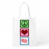 Cute Pink Pig Grocery Bag