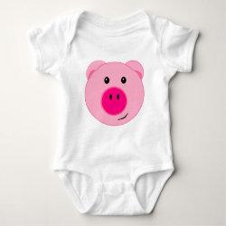 Cute Pink Pig Infant Creeper