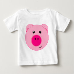 Cute Pink Pig Infant T-shirt