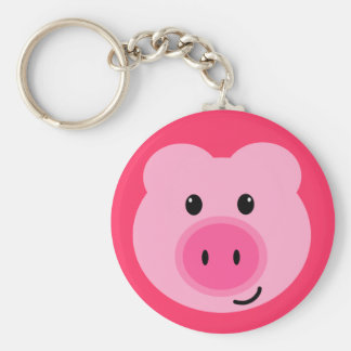 Cute Pink Pig Keychain