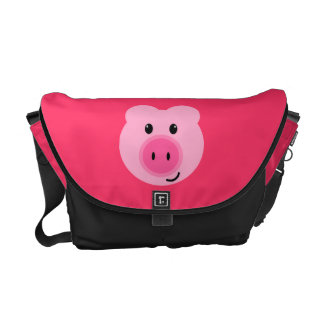 Cute Pink Pig Messenger Bag