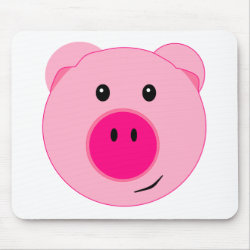 Cute Pink Pig Mouse Pad