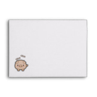 Cute Pink Pig Oink Envelope
