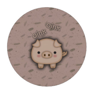 Cute Pink Pig Oink Pink Background Poker Chips
