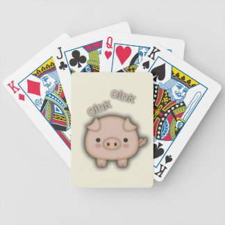 Cute Pink Pig Oink Poker Cards