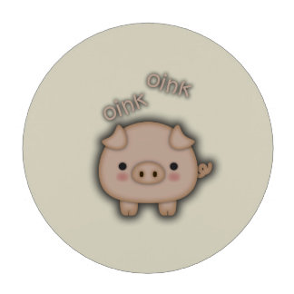 Cute Pink Pig Oink Poker Chips