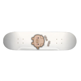 Cute Pink Pig Oink Skateboard Deck