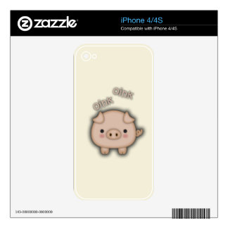 Cute Pink Pig Oink Decal For The iPhone 4S