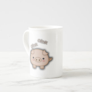 Cute Pink Pig Oink Tea Cup