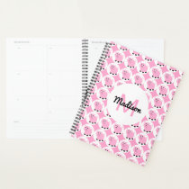 Cute Pink Pig Pattern Personalized Adorable Animal Planner