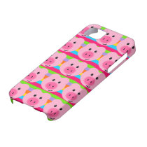 Cute Pink Pig Pattern Rainbow iPhone 5 Case