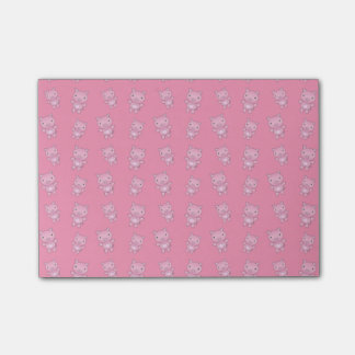 Cute pink pig pattern post-it® notes