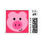 Cute Pink Pig Postage Stamps