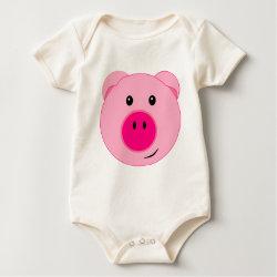Cute Pink Pig Romper