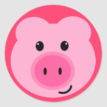 Cute Pink Pig Stickers