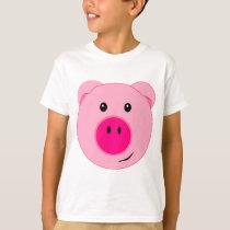 Cute Pink Pig T-Shirt