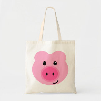 Cute Pink Pig Tote Bag