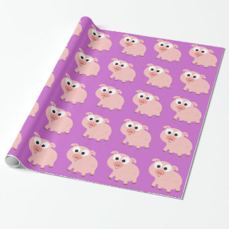 Cute Pink Pig Wrapping Paper