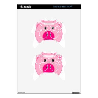 Cute Pink Pig Xbox 360 Controller Skin