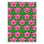 Cute Pink Piggies Card