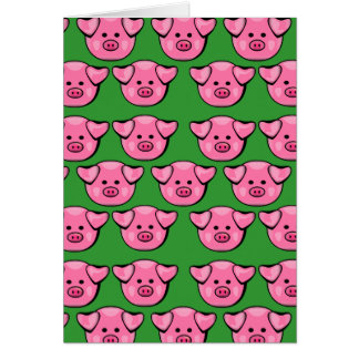 Cute Pink Piggies Card