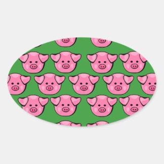 Cute Pink Piggies Stickers