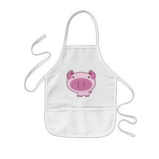 CUTE PINK PIGGY KIDS APRON