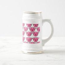 Cute Pink Pigs Beer Stein