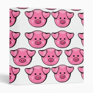 Cute Pink Pigs Binder