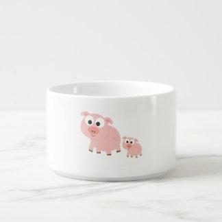 Cute Pink Pigs Bowl