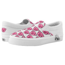 Cute Pink Pigs Slip-On Sneakers