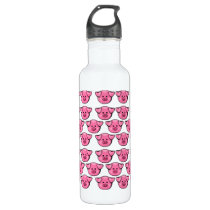 Cute Pink Pigs Stainless Steel Water Bottle