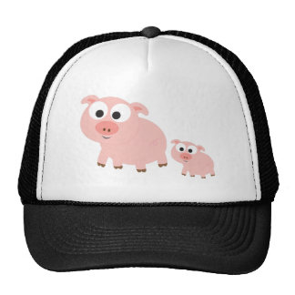 Cute Pink Pigs Trucker Hat