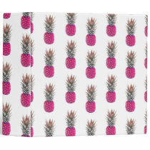 Cute Pink Pineapple Pattern Binder