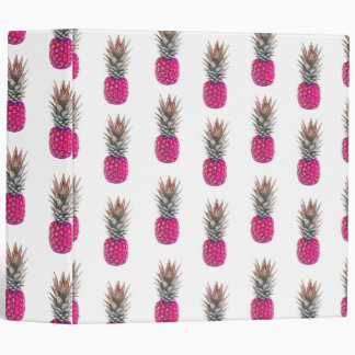 Cute Pink Pineapple Pattern Binder