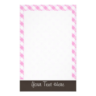 Cute Pink Plaid; Checkered Stationery