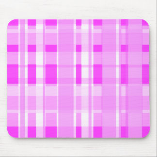 Cute Pink Plaid Mouse Pad