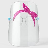 Cute Pink Polka Dot Bandana Headscarf Headband Face Shield