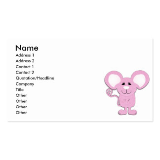 cute pink polka dot mousey mouse business card templates