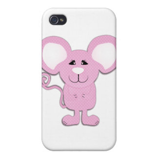 cute pink polka dot mousey mouse cover for iPhone 4