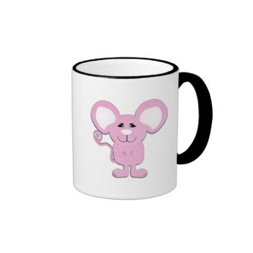 cute pink polka dot mousey mouse coffee mugs