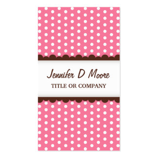 Cute pink polka dot pattern profile calling card business card