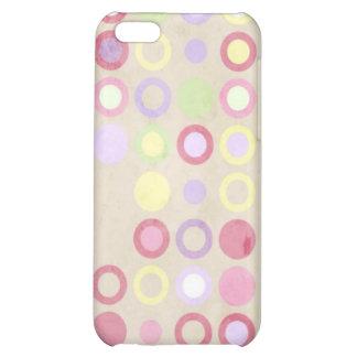 Cute Pink Polka Dots Geometric Circles iPhone 5C Covers