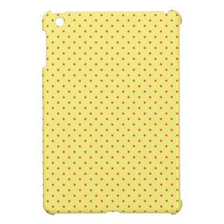 Cute Pink Polka Dots on Yellow Pattern iPad Mini Cover