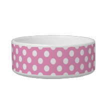 Cute Pink Polka Dots Pattern Bowl