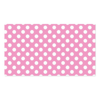 Cute Pink Polka Dots Pattern Double-Sided Standard Business Cards (Pack Of 100)