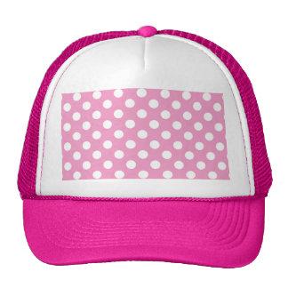 Cute Pink Polka Dots Pattern Trucker Hat