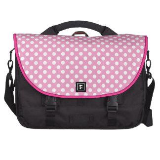 Cute Pink Polka Dots Pattern Laptop Bag