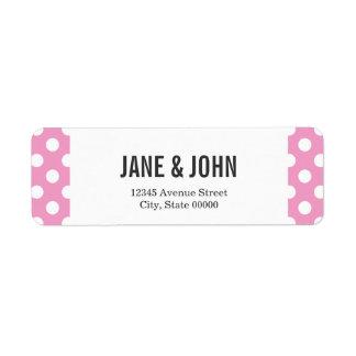 Cute Pink Polka Dots Pattern Return Address Label
