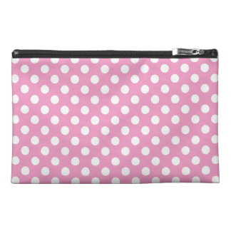 Cute Pink Polka Dots Pattern Travel Accessories Bags